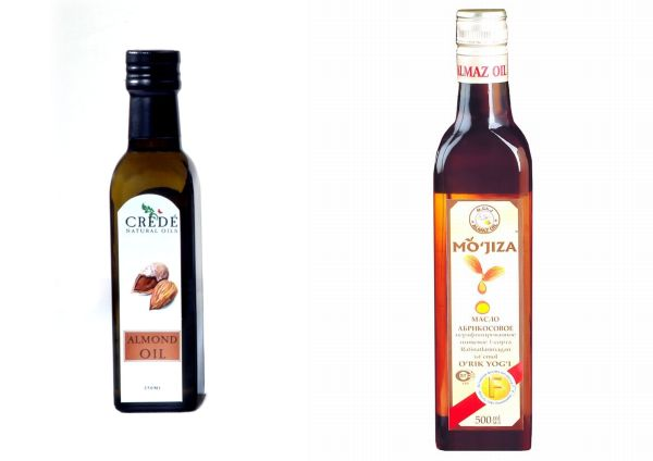 Almond oil and apricot oil