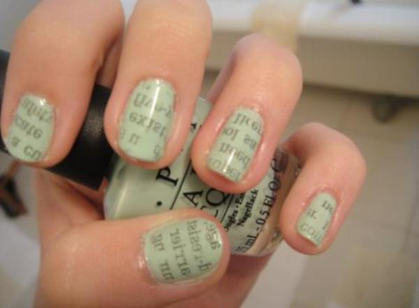 How to do newspaper print nail art - Beauty Ramp - Beauty & Fashion ...