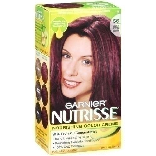 Reddish Brown Hair Color Garnier Garnier 56 medium reddish