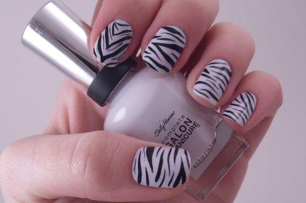 Zebra Print Nail Polish 21